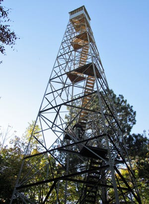 The Mountain Fire Tower, located north of Mountain.