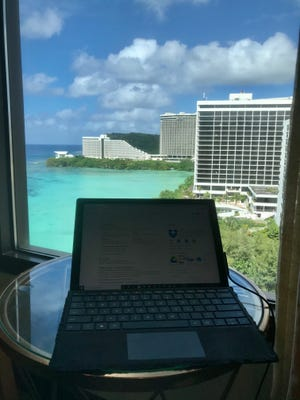 Depending on your personality, getting work done can be difficult or invigorating with such a gorgeous view.