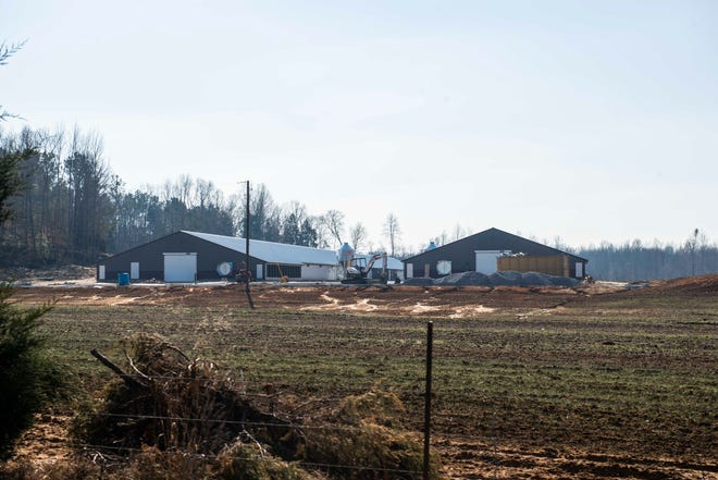 Tyson Farm under construction in Henderson County in Huron, Tenn., Tuesday, Dec. 8, 2020.