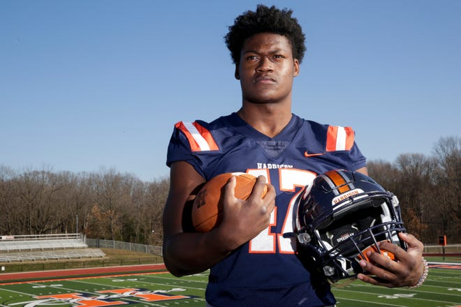 Harrison's Omarion Dixon is the 2020 Journal & Courier Big School Offensive Football Player of the Year.