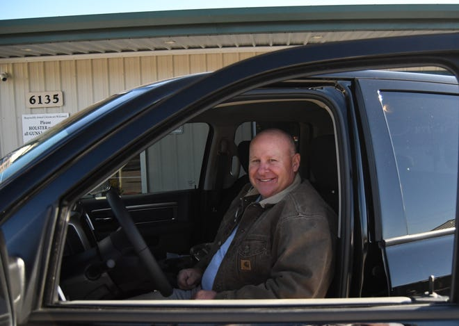 Dan Howard of Mountain Home recently won a Dodge Ram Warlock pickup truck, a Cub Cadet UTV and a trailer in a statewide drawing organized by Friends of NRA Arkansas.