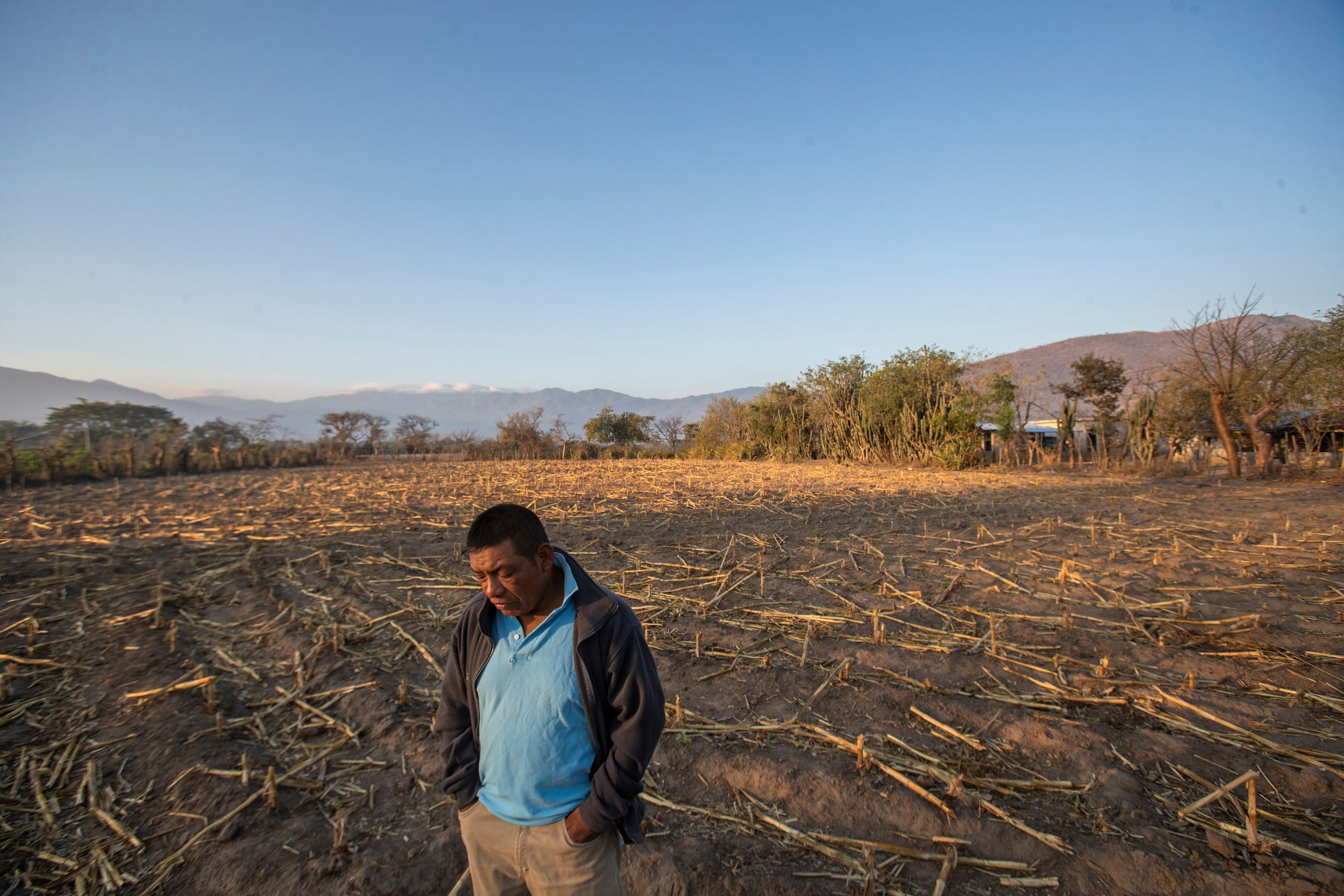 Francisco Sical lives on a plot of agricultural land in Baja Verapaz, Guatemala.