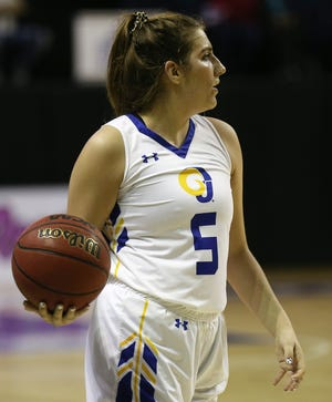 Angelo State University senior wing Lana Marov is one of several Rambelle players from outside the United States. She's from Sydney, Australia and she began her college career at Midland College.