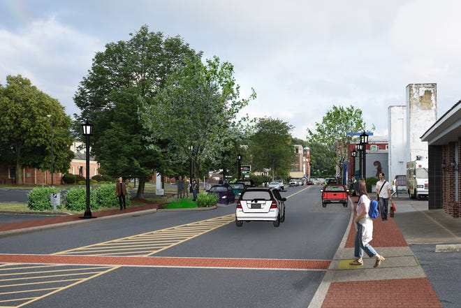 What Central Avenue will look like after a streetscape project, which costs $1.9 million. The project that will renovate and invigorate a three-block section of North Central Avenue between West Frederick and Pump streets.