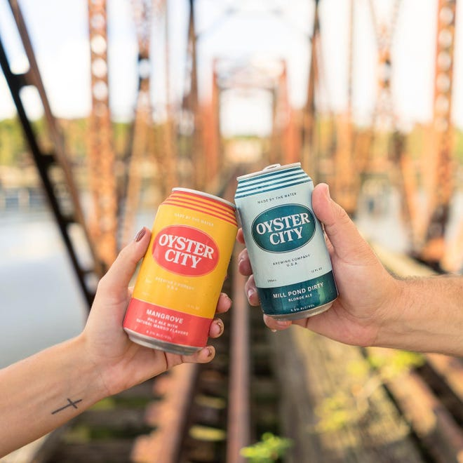 Oyster City Brewing Company's Mangrove Pale Ale, and  Millpond Dirty Blonde, one of the original three beers Oyster City brewed when it first opened its taps in 2014, both took home gold awards.