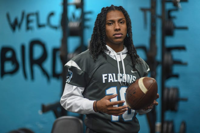 Jensen Beach High School defensive back DaQuan Gonzales inside the team's weight room on Thursday, Dec. 4, 2020, at the school in Jensen Beach.