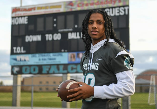 Jensen Beach High School defensive back DaQuan Gonzales stands at the school's stadium on Thursday, Dec. 3, 2020, in Jensen Beach.