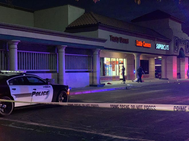 Police are investigating a shooting in Mary's Vineyard near Tasty Donuts and Little Caesar's pizza.