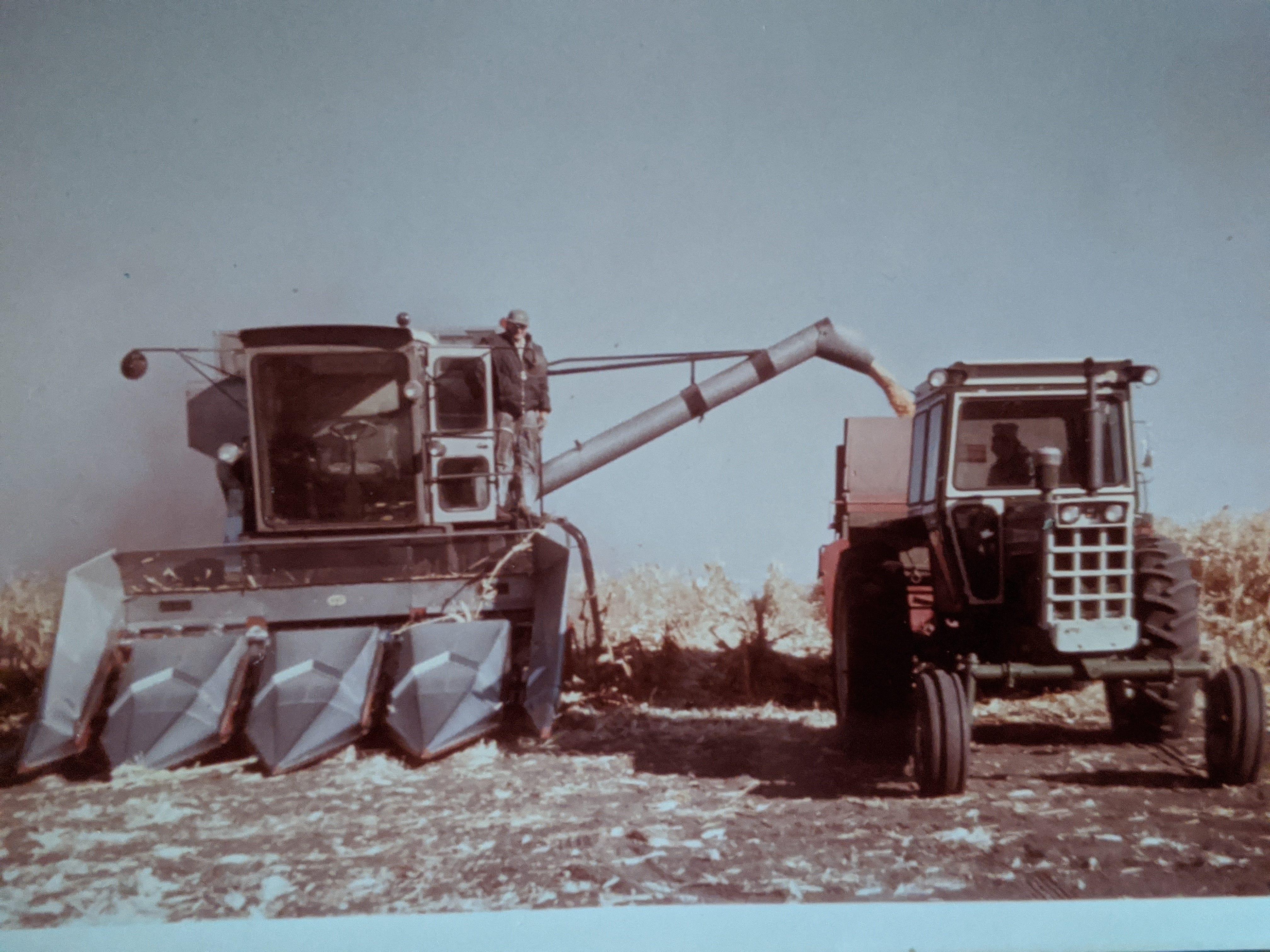 An archival photo of hog farmer Greg Boerboom at his farm.