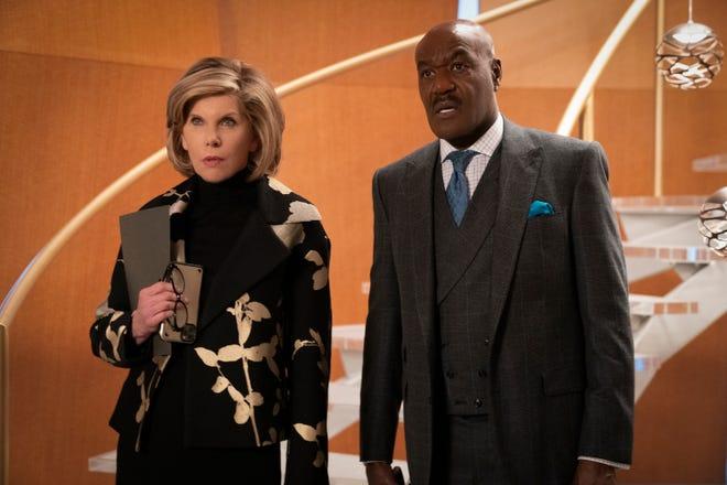 """L'absurdité de l'ère moderne n'est pas perdue pour Diane Lockhart (Christine Baranski) et Adrian Boseman (Delroy Lindo) dans CBS All Access's """"Le bon combat."""""""