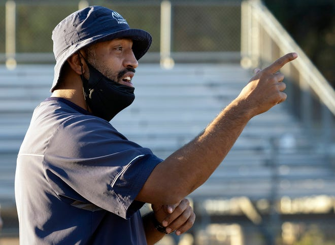 Texas School for the Deaf head coach John Moore Jr., led the Rangers to a 63-32 win over Veritas in the TAPPS 6-man state final Friday in Waco.