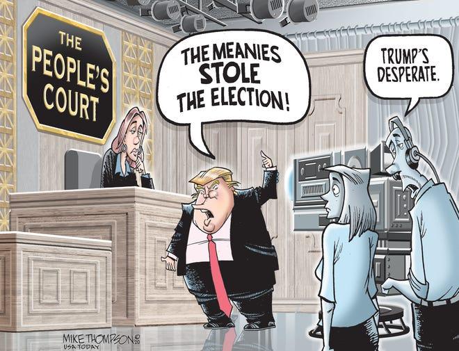 Editorial cartoon: Another court