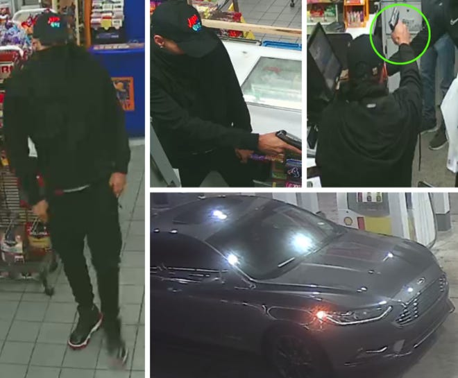 Austin police are looking for a man who authorities say robbed an East Austin convenience store last month.