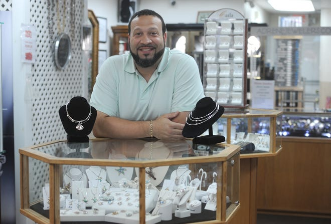 SOUTH YARMOUTH -- 10/13/20 -- Todd Mendes took over the family business, Adrene Jewelers, about two years ago. 