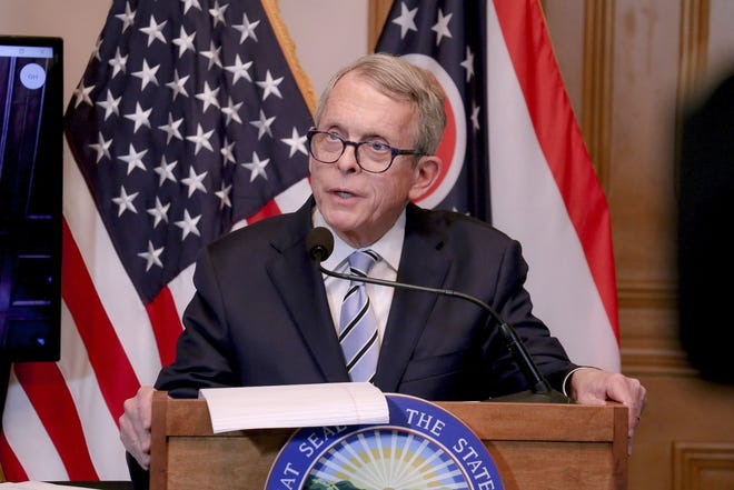 Gov. Mike DeWine briefs Ohioans on the coronavirus outbreak during the early days of the nine-month-old pandemic.