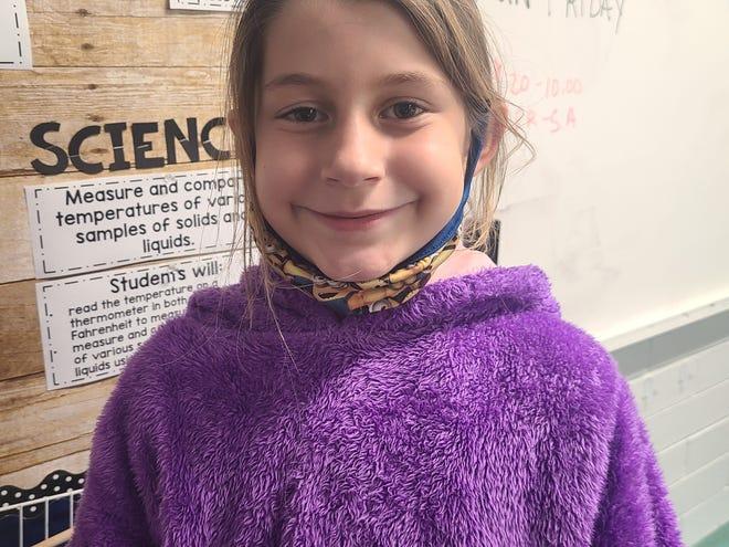 Audrey VanPatten attends Food Brings Hope's KidsZone after school.
