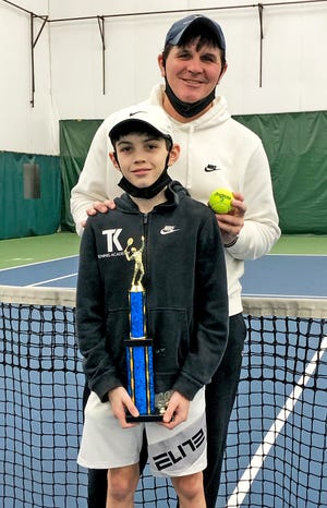 Waymart's Tristan Vivona poses with his Dad, Jimmy, after yet another big win on the USTA youth tennis scene. Tristan will close out 2020 as the top-ranked player of his age bracket in the Middle States division.