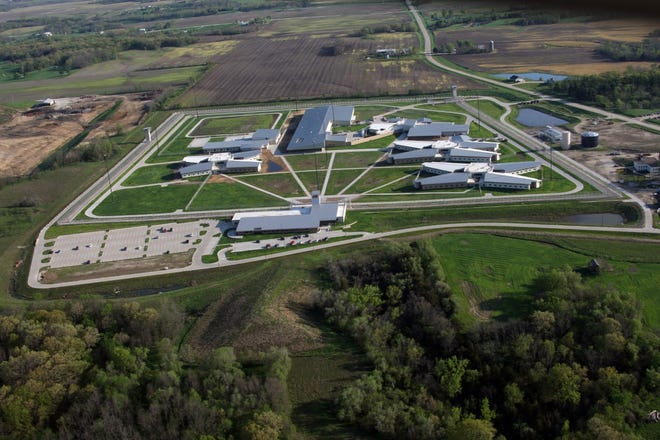 This file photo shows an aerial view of the Iowa State Penitentiary in Fort Madison.