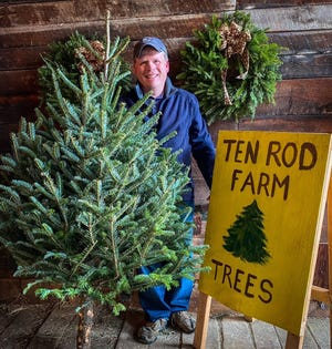 Matt Scruton and Ten Rod Farm in 2020 are continuing the annual tradition of providing free Christmas trees to local families in need.