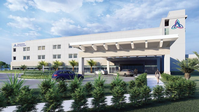 This is a rendering of the $115 million Ascension St. Vincent's St. Johns County, a new hospital in northern St. Johns to open in 2022.