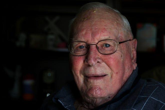 World War II veteran Herman Beaty is interviewed in his home in Cramerton Thursday afternoon, Dec. 10, 2020.