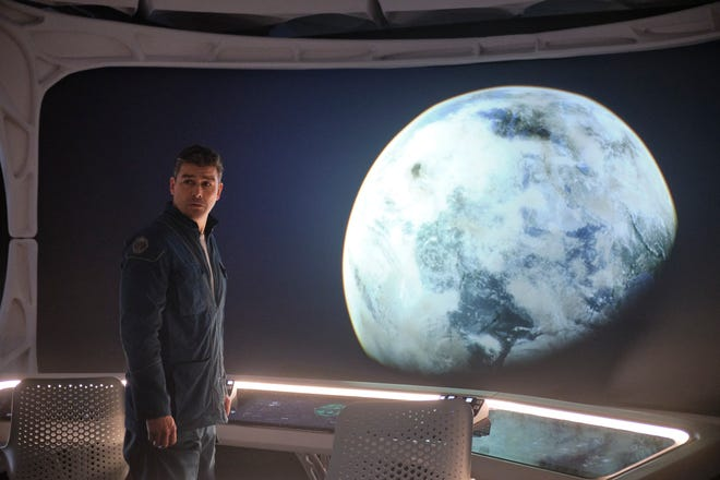 """This image released by Netflix shows Kyle Chandler in a scene from """"The Midnight Sky."""""""