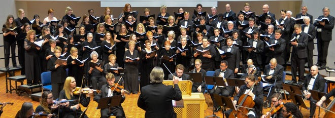"""The Lubbock Chorale, pictured here during a past holiday performance, is scheduled to present """"Home for the Holidays,"""" avirtual choir concert at 7:30 p.m. on Saturday, Dec. 19."""
