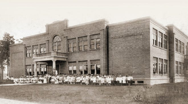 The original 1919 schoolhouse in Lake Wales.  The building was recently purchased from the city for more than $500,000 by the Lake Wales Charter School district for use as Bok Academy North.