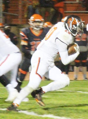 La Junta High School's Anthony Torrez runs with the ball against Lamar this season. Torrez was a first team All-Southwest League selection.