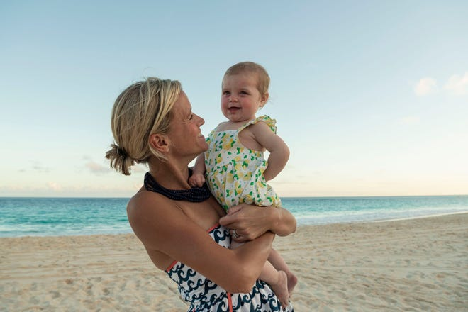 Kate Bowen holds her daughter Georgia Claire, who was born in cardiac arrest.
