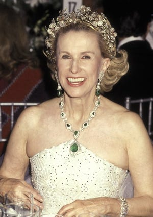 Socialite Marylou Whitney attends the Opening Night Performance of the Metropolitan Opera House on Sept. 23, 1991 at The Metropolitan Opera House in New York City.