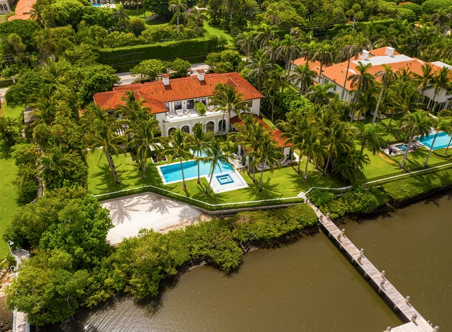 A five-bedroom lakeside house built in 2016 at 1330 S. Ocean Blvd. in Palm Beach has sold for $40.668 million, the price recorded with the deed.