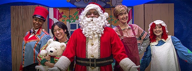 The cast of F.M. Kirby Center's all virtual 'Young People's Theater Series,' Santa's Enchanted Workshop.