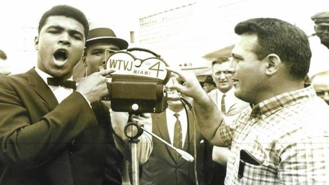 Bernie Rosen, longtime sports director at Miami's WTVJ, with Muhammad Ali.