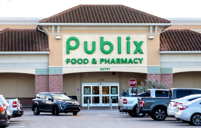 The Publix Super Market at Congress Avenue and Hypoluxo Road Monday morning July 29, 2019, where Adalberto Wolmar Rodriguez was fatally shot by Boynton Beach police Sunday. The incident started with a robbery at a nearby Dollar Tree store. [LANNIS WATERS/palmbeachpost.com]