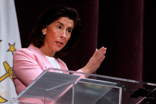 Gov. Gina Raimondo says the state's COVID numbers are moving in the right direction, but not at the pace she had hoped.