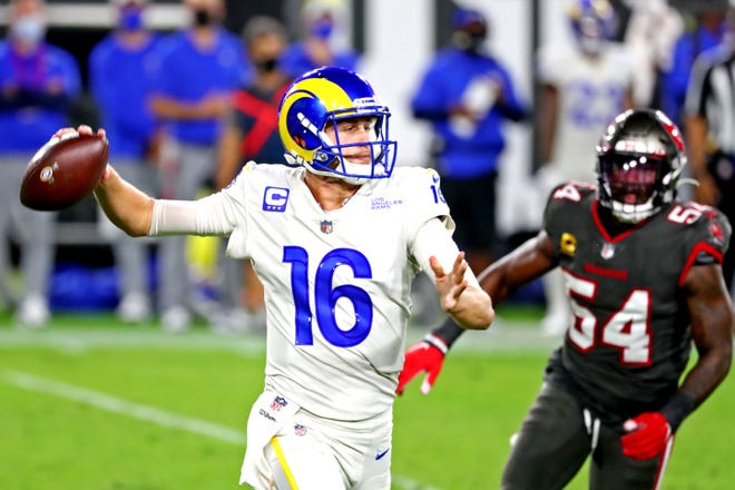 Quarterback Jared Goff and the Los Angeles Rams host the New England Patriots on Thursday night.
