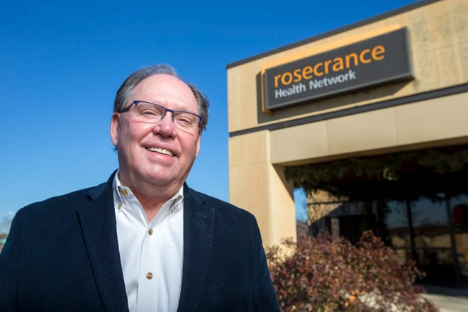 Rosecrance CEO Phil Eaton will retire Jan. 5 after a 50-year career. He is seen here on Thursday at Rosecrance, 1021 N. Mulford Road.