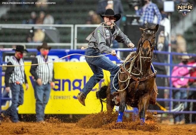 Stephenville's Marty Yates won Round 1 of the tie-down roping for the second time in his career at the National Finals Rodeo held this past week in Arlington.