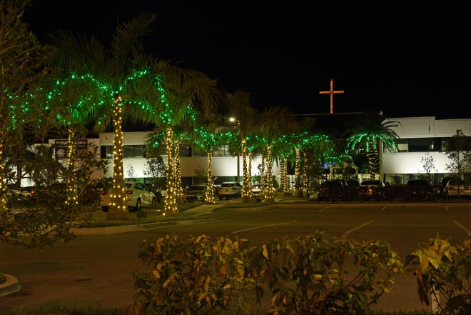 PGT Innovations is one of 22 local businesses participating in the Venice Area Chamber of Commerce Let it Glow Holiday Lights Contest, which started on Dec. 9 and continues through Dec. 30. The display, including the lighted palm trees and cross, are best seen from the northbound lanes of Interstate 75.
