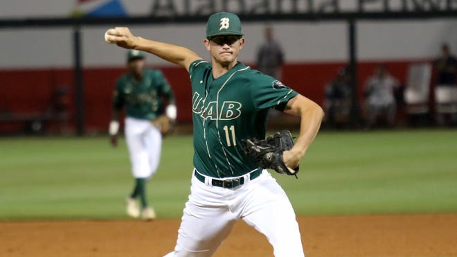 The Boston Red Sox selected Garrett Whitlock, shown pitching at UAB in 2017, from the New York Yankees in last week's Rule 5 Draft.