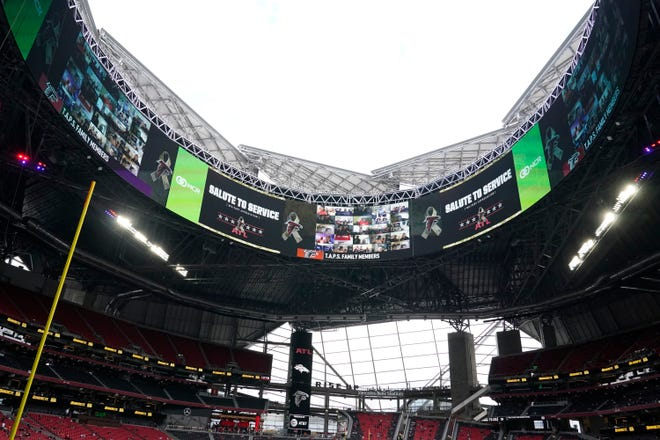 A look inside Mercedes-Benz Stadium in Atlanta, home of the annual SEC Championship Game.