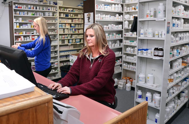 Pharmacist Sheila Schuster, right, and Pharmacy Tech Emily Munday work to fill prescriptions at National Family Pharmacy, 1615 Dodson Ave. Cutting out the 'middleman,' the SCOTUS judgment on Thursday eases what has caused thousands of independent pharmacies to close — particularly in rural areas.