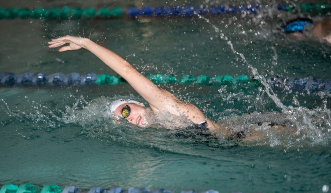 Sophomore Jada Heren swam on the Bobcats girls team's 400-yard freestyle relay and 200 free relay in last season's Division II state meet.