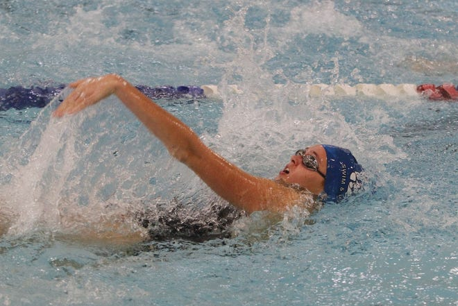 Katie Woollard is one of six returning district qualifiers for the Davidson girls swimming and diving team and fifth-year coach Lynn Bowers.