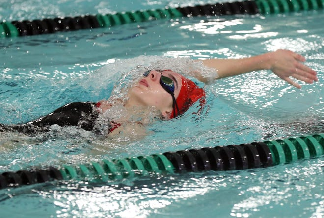 Senior Jazlyn Winski is one of the top returnees for the Groveport Madison swimming program, which currently is dealing with a pause in competitions because of the COVID-19 coronavirus pandemic.