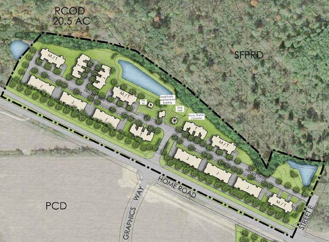 The Orange Grand Estates at Slate Ridge townhome development will be along a newly extended Home Road near Graphics Way in Orange Township.