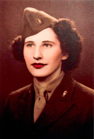Louise Tezak Yerdon enlisted in the Army at age 23. The decorated World War II veteran turns 100 years old on December 11, 2020. Photo provided by Yerdon family.