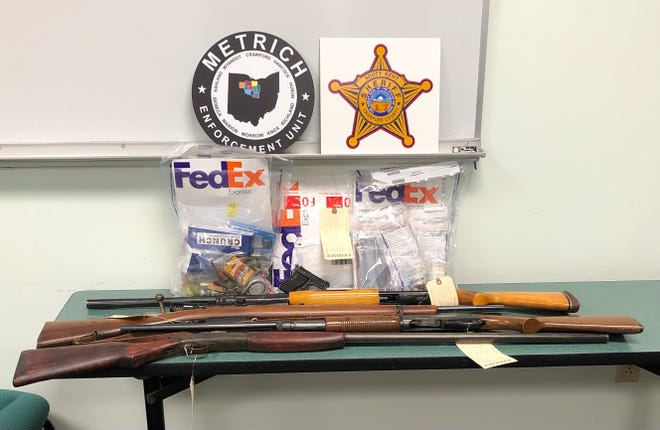 Pills, marijuana, drug paraphernalia and firearms were found during a search of916 Park Road, Crestline.