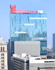 """Greektown Casino tweeted Sunday to """"check back for an official date"""" of reopening."""